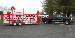 Red Dog Mobile Storage Delivery of Unit